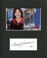 Suzyn Waldman NY New York Yankees Commentator Signed Autograph Photo Display JSA