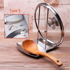 Stainless Steel Pot Lid Cover Spoon Rest Stand Rack Holder Shelf Organizer Tools