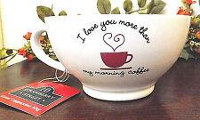 Cappuccino Mug I LOVE YOU MORE THAN MY MORNING COFFEE 10 Strawberry St 16 oz NWT