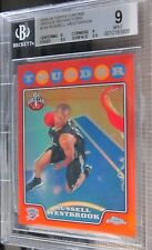 2008-09 Topps Chrome Russell Westbrook ORANGE Refractor #375/499 BGS 9 Mint