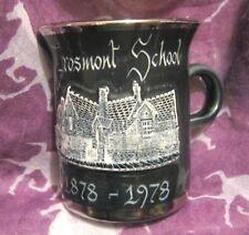 Lovely Rumney Pottery mug Grosmont School 1878 - 1978 approx 3¾ ins tall