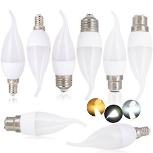 LED Candle Bulb Medium Base E27 E14 B22 B15 3W Dimmable Lamp 220v Warm White