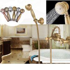 NEW Vintage Shower Head Handheld Copper Bathroom Powerful Energy Water Saving UK