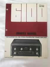 McIntosh MA-6100 Original Genuine Owner's Manual