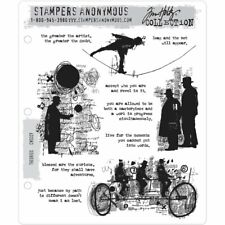 Tim Holtz Cling Stamps - Theories