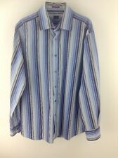 Mens paul smith blue striped shirt size 16.5/42 stock No.G326