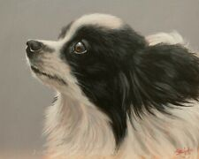German Spitz Dog Portrait Original Painting by Uk Master Artist John Silver Ba