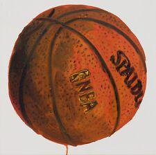 "Basketball #1 Oil on Canvas 12"" x 12"" Kilduff"
