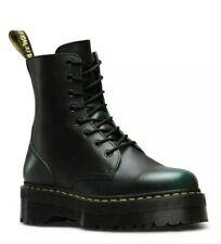 Dr Martens Jadon Vintage Green Leather Platform Double Sole Boots - BNIB - UK5