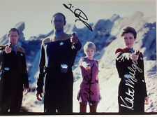 Star Trek Voyager Autograph 8x10 Photo Signed by Mulgrew/Russ/Lein (Lhau-889)