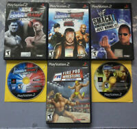 WWE PS2 Wrestling Game Lot - Smackdown Vs Raw, Fire Pro Wrestling, Just Bring It