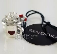 WARM COCOA Authentic PANDORA White/Red Enamel CHRISTMAS Charm 797523ENMX w POUCH