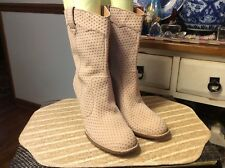 BORN Genevieve W01752 Linen Suede Calf-high Western Fashion Boot Womens 42 / 10M