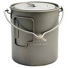TOAKS Titanium 750ml Pot with Bail Handle POT-750-BH - Outdoor Camping Cup Bowl