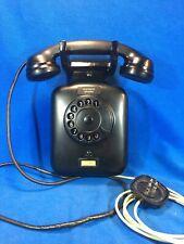 Telefono SIEMENS da parete in bachelite nera anni 40