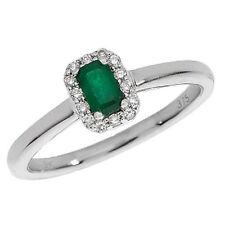 Emerald Cluster White Gold Fine Diamond Rings