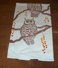VINTAGE COTTON KITCHEN TOWEL OWLS