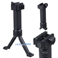 Foldable Rifle Bipod Vertical Hand Fore Grip Foregrip Picatinny Weaver Rail #5