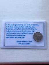Keepsake For A Baby - Sixpence Wallet Card - Good Luck Gift - Laminated Card