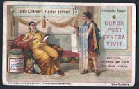Latin Writing Compared To German c1900 Trade Ad  Card