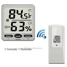 WS-07-X1 Big Digit 8-Channel Wireless WiFi Thermo-Hygrometer(1 Console/1 Remote)