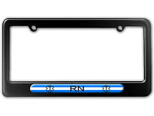 Thin White Line - Nurse RN Star of Life License Plate Tag Frame
