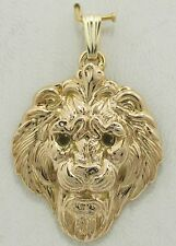 14K solid yellow gold Lion Head Pendant 4.2 grams gold