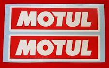 MOTUL Adesivo 8 x 120 mm Adesivi Decalcomanie Racing Auto Moto Rally Sponsor RW