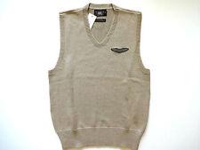 New Ralph Lauren RRL 100% Cotton Beige Wing Patch Sweater Vest L