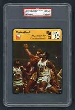 PSA 8 1969 KNICKERBOCKERS with WILLIS REED Sportscaster Basketball #05-19 ITALY