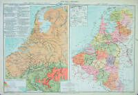 1867 Drioux Antique Map of The Netherlands