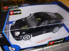 BURAGO 1:18 AUTO DIE CAST MONTATA PORSCHE 911 TURBO NERA  ART. 12000