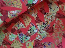 Tradizionale giapponese Chiyogami Washi Yuzen Paper (RE47) ~ foglio di grandi dimensioni 61 x 45 cm