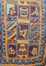 Batik Zimbabwe Hanging Art African Fabric 100% COTTON 78'' x  61'' AFRICA