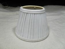 1 ~ Clip-On Chandelier Sconce Lamp Shade ~ Pleated Fabric ~ White (#3)