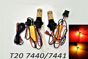 T20 7440 7441 W21W Reverse Backup Lights Switchback LED Amber Red Bulb A1 LAX