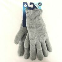 Isotoner Womens Gloves Knit Sherpa Lined Gray SmartDri Water Resistant One Size
