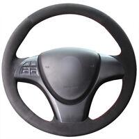 Black Suede DIY Steering Wheel Cover for Suzuki kizashi 2010