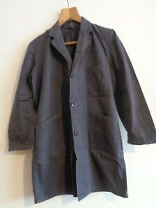 Vtg French blue work chore worker chore jacket duster shop coat