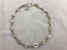 "Heavy Sterling Silver .925 16 1/2"" Oval Link Choker Toggle Clasp Chain Necklace"
