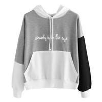 Womens Ladies Sweatshirt Hoodies Sweat Shirt Jumper Pullover Tops Blouse Fashion