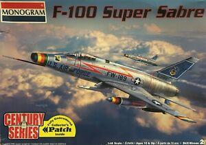 MONOGRAM F-100 SUPER SABRE 1/48 - INCLUDES COLLECTORS PATCH & 2 SETS OF DECALS