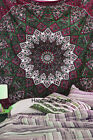 Indian Maroon Star Mandala Tapestry Hippie Wall Hanging Throw Queen Bedspread