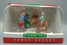 Vintage Lemax Coventry Cove Reindeer Rides Christmas Scene Polyresin Figures