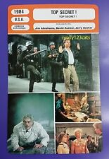 US Action Comedy Movie Top Secret! Val Kilmer French Film Trade Card