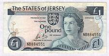 JERSEY - 1 POUND Pick n° 11b de 1976/1985 non daté - en TTB  NB884551