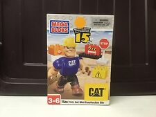 New Mega Bloks Cat 7844 Mini Construction site Worker Set Wheel Barrow