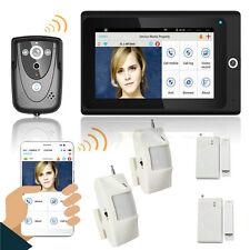 """7"""" WiFi Wireless Video Door Phone intercom Doorbell IP Camera Home alarm system"""