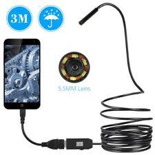 6LED 5.5mm 3 M Endoscopio Ispezione Periscopio USB Cablata Tube Telecamera O4V3