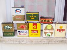 Lot Bidons Huile Ancien BP, ENERGOL, SHELL,YACCO,MOBILOIL,LOCKHEED,ESSO,